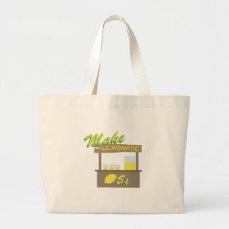 Make Lemonade Large Tote Bag