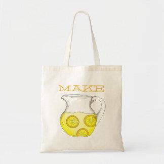 Make Lemonade Pitcher w/ Lemons Tote Bag