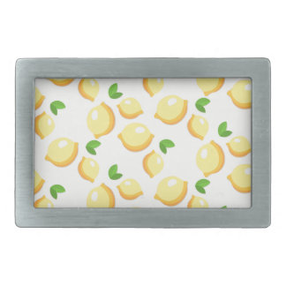 Make Lemonade - Sweet Yellow Lemon Print Rectangular Belt Buckles