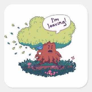 Make Like a Tree Square Sticker