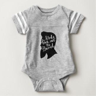 Make love not the beard - silhouette baby bodysuit