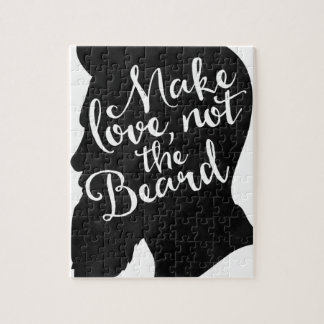 Make love not the beard - silhouette jigsaw puzzle