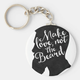 Make love not the beard - silhouette keychain