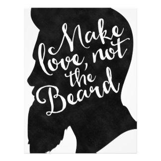 Make love not the beard - silhouette letterhead
