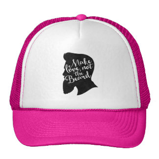 Make love not the beard - silhouette trucker hat