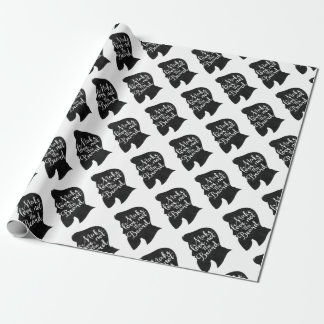 Make love not the beard - silhouette wrapping paper