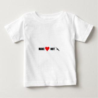 Make Love Not War Baby T-Shirt