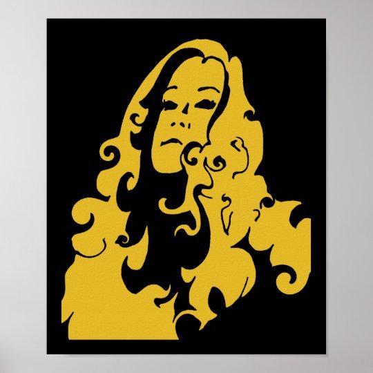 Make Love Not War Hippie Girl Poster