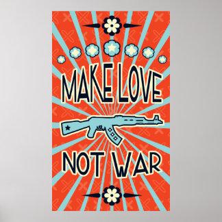 Make Love Not War Vintage Poster