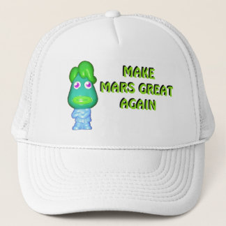 Make Mars Great Again Alien Donald Trucker Hat