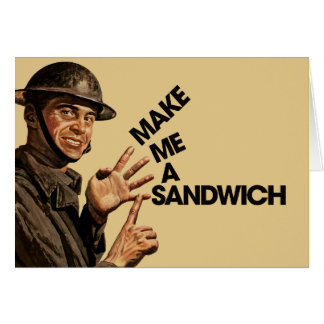 Make me a sandwich stationery note card