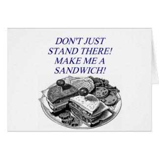 make me a sandwich greeting card