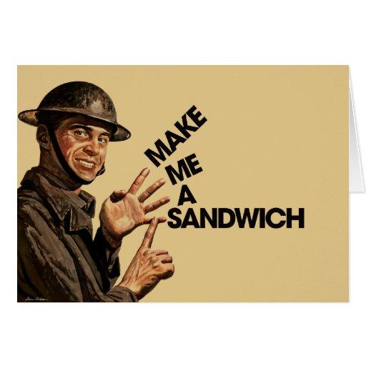 Make me a sandwich cards