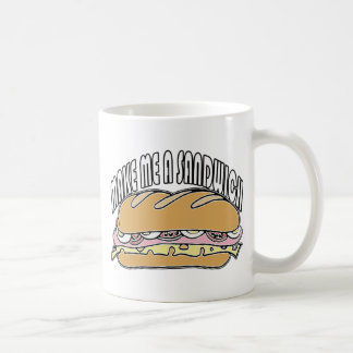 Make Me A Sandwich Classic White Coffee Mug