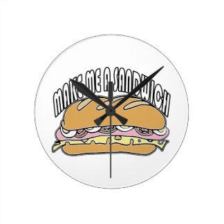 Make Me A Sandwich Wall Clock