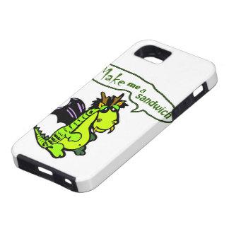 """Make Me a Sandwich"" Dinosaur/Dragon iPhone Case"