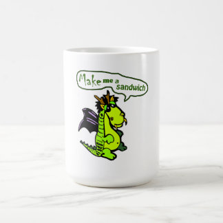 """Make Me a Sandwich"" Dinosaur/Dragon Mug"