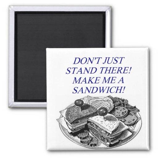 make me a sandwich! fridge magnets