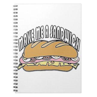 Make Me A Sandwich Spiral Note Books