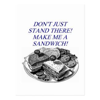 make me a sandwich postcard