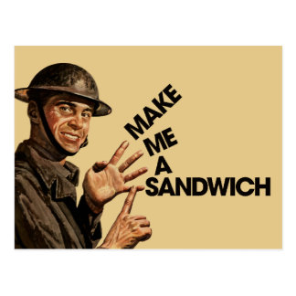 Make me a sandwich postcard