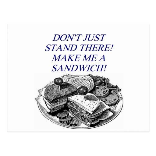 make me a sandwich! post card