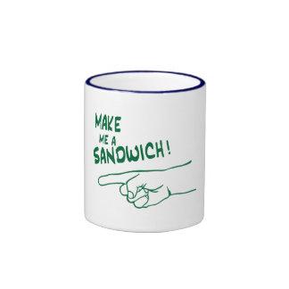 Make Me a Sandwich! Ringer Coffee Mug