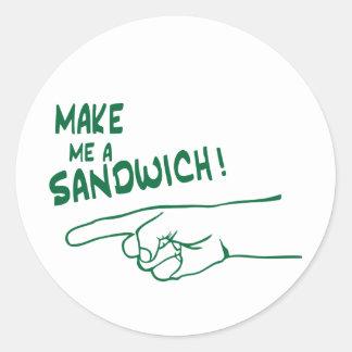 Make Me a Sandwich! Round Sticker