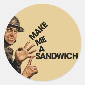 Make me a sandwich round sticker