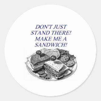 make me a sandwich! stickers