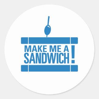 Make Me A Sandwich Round Stickers