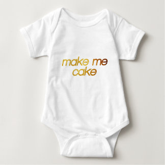 Make me cake! I'm hungry! Trendy foodie Baby Bodysuit