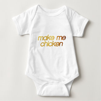Make me chicken! I'm hungry! Trendy foodie Baby Bodysuit