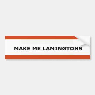 Make Me Lamingtons Bumper Sticker