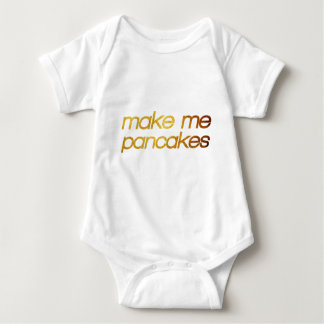 Make me pancakes! I'm hungry! Trendy foodie Baby Bodysuit