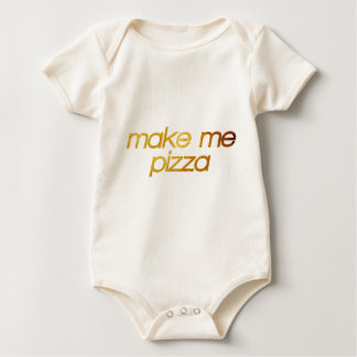 Make me pizza! I'm hungry! Trendy foodie Baby Bodysuit