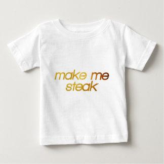 Make me steak! I'm hungry! Trendy foodie Baby T-Shirt