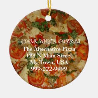 Make Mine Pizza! Customizable Text Ceramic Ornament