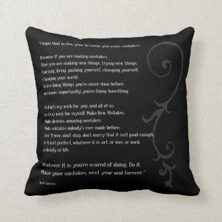 Make Mistakes Throw Pillow