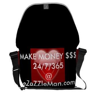 MAKE MONEY $$$ 24/7/365 @ eZaZZleMan.com Messenger Bag