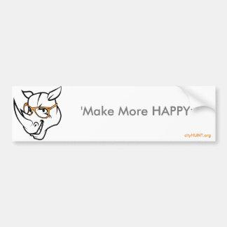 Make more Happy Bumper sticker