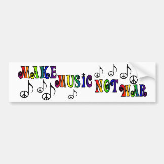 Make Music bumper sticker
