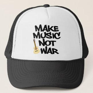 Make Music Not War Acoustic guitar Trucker Hat