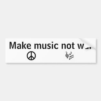 Make music not war bumper sticker