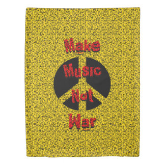 Make Music Not War Duvet Cover