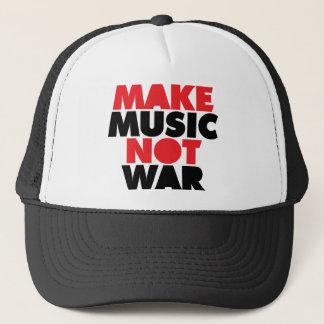 Make Music Not War Trucker Hat