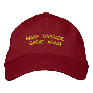 MAKE MYSPACE GREAT AGAIN Adjustable Baseball Hat Embroidered Hat