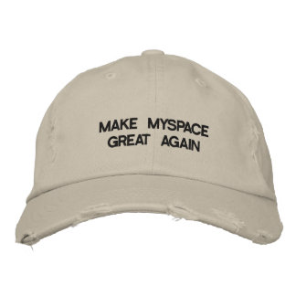 MAKE MYSPACE GREAT AGAIN Distressed Baseball Cap