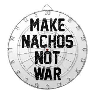 Make Nachos Not War Dartboard