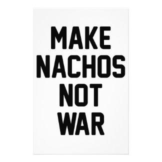 Make Nachos Not War Stationery Paper